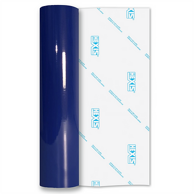 Pacific Blue Standard Permanent Gloss Self Adhesive Vinyl