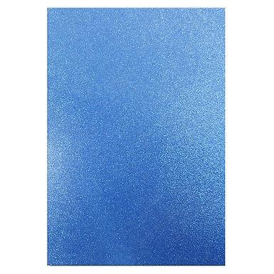 A4 Glitter Card Blue