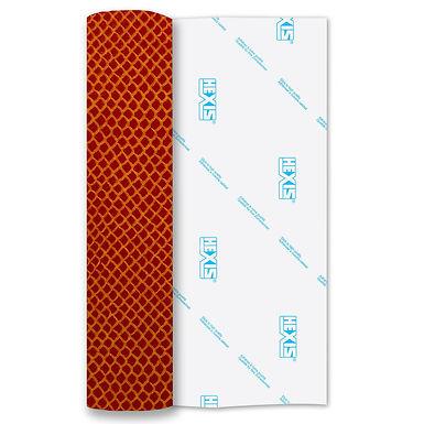 Manta Ray Orange Print Heat Transfer Flex 250mm Wide x 500mm Long