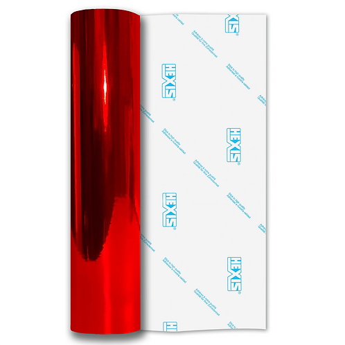 Bright Red Mirror Chrome Self Adhesive Vinyl