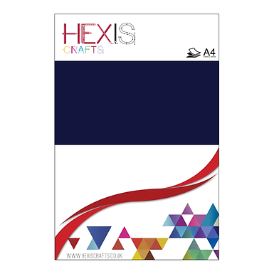 Navy Blue Heat Transfer Flex Sheet