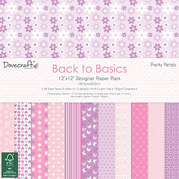 "12"" x 12"" Back To Basics Paper Pack - Pretty Petals"