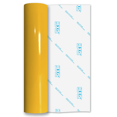 Intense Yellow Standard Permanent Gloss Self Adhesive Vinyl