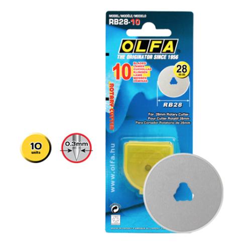OLFA 28mm Rotary CutterReplacement Blades x 10