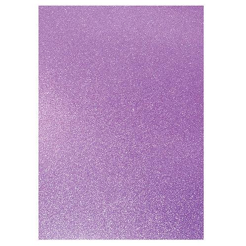 A4 Glitter Card Lilac