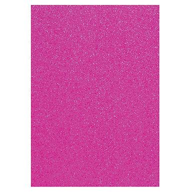 A4 Glitter Card Cerise