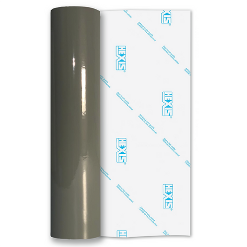 Dark Grey Standard Permanent Gloss Self Adhesive Vinyl