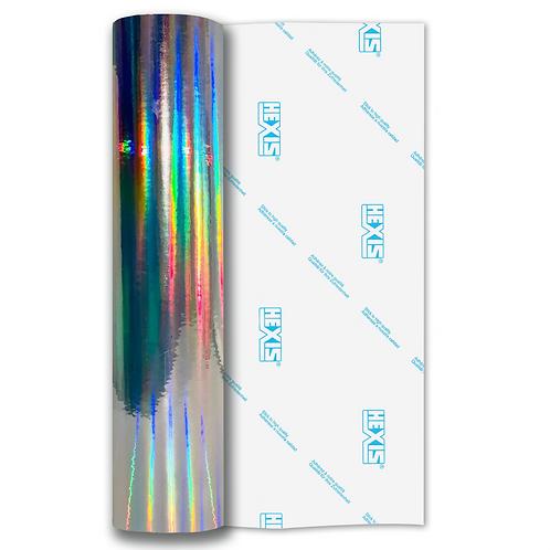Silver Rainbow Chrome Self Adhesive Vinyl