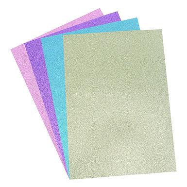 A4 Glitter Card Pastels Pack