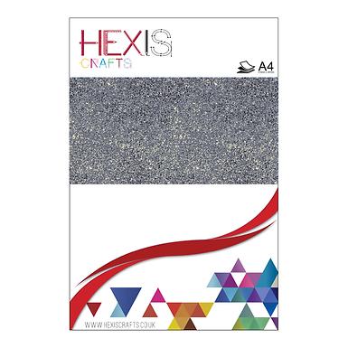 Platinum Glitter Heat Transfer Flex Sheets x 6