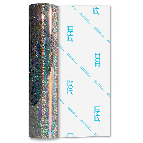 Bubbles Holographic Double Sided Gloss Self Adhesive Vinyl
