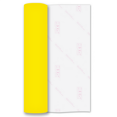 Neon Yellow Premium Flock HTV