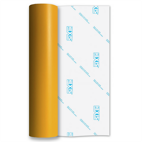 Dark Yellow Standard Removable Matt Self Adhesive Vinyl