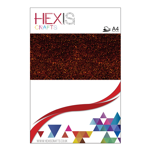 Burgundy Glitter Heat Transfer Flex Sheets x 6