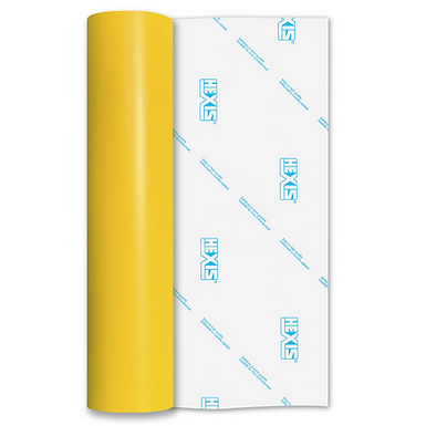 Light Standard Yellow Permanent Matt Self Adhesive Vinyl
