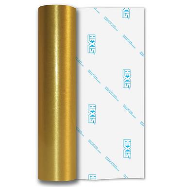 Gold Coarse Brush Self Adhesive Vinyl