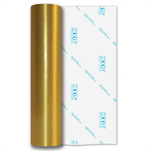 Gold Coarse Brush Self Adhesive Vinyl
