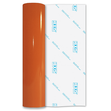 Orange Reflective Permanent Gloss Self Adhesive Vinyl