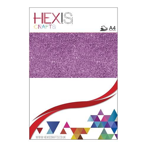 Lavender Glitter Heat Transfer Flex Sheets x 6