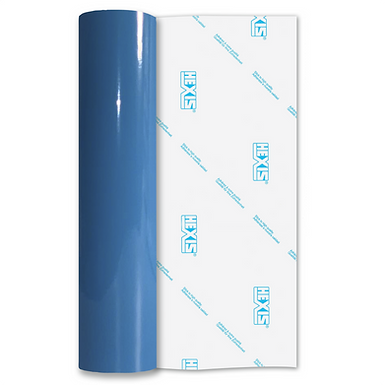 Montpellier Blue Economy Permanent Gloss Self Adhesive Vinyl
