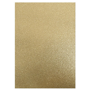 A4 Glitter Card Gold