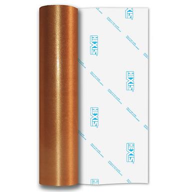 Copper Coarse Brush Self Adhesive Vinyl