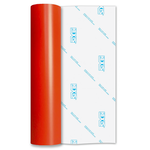 Vermillion Red Standard Permanent Matt Self Adhesive Vinyl