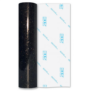 Ultra Glitter FX Black Gloss Self Adhesive Vinyl