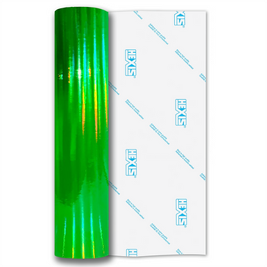 Fluorescent Green Rainbow Chrome Self Adhesive Vinyl