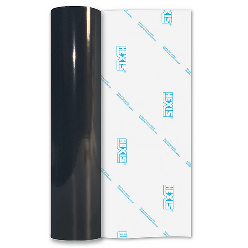 Black Premium Permanent Gloss Self Adhesive Vinyl