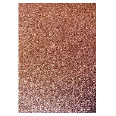 A4 Glitter Card Chocolate