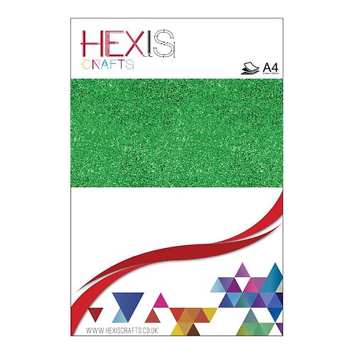 Emerald Green Glitter Heat Transfer Flex Sheets x 6