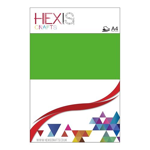 Green Neon Heat Transfer Flex Sheets x 6