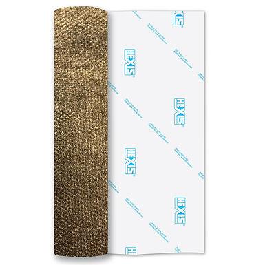 Gold PU Thin Soft Stretch Heat Transfer Flex 500mm Wide x 1m Long