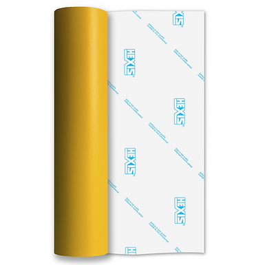 Deep Yellow Standard Removable Matt Self Adhesive Vinyl