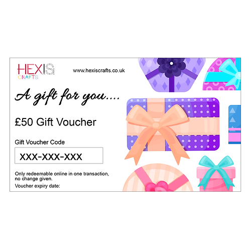 HEXIS CRAFTS £50 Gift Card