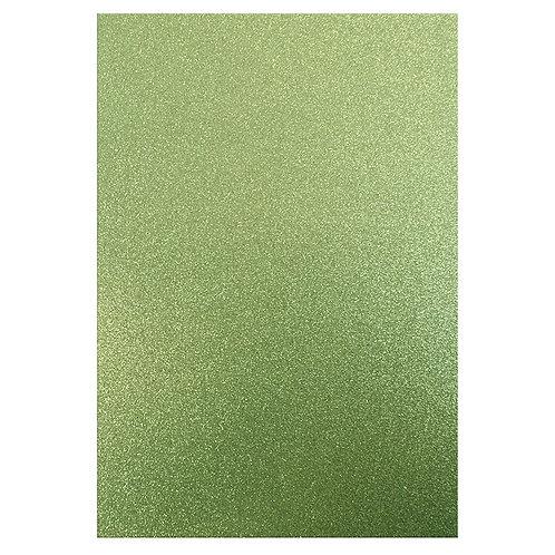 A4 Glitter Card Teal
