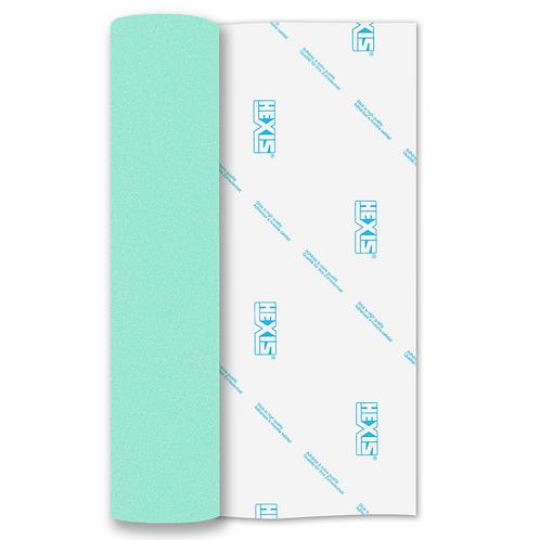 Neon Light Blue Glitter Mix Heat Transfer Flex 305mm Wide x 500mm Long