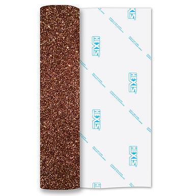 Bronze Glitter Heat Transfer Flex 140mm Wide x 500mm Long