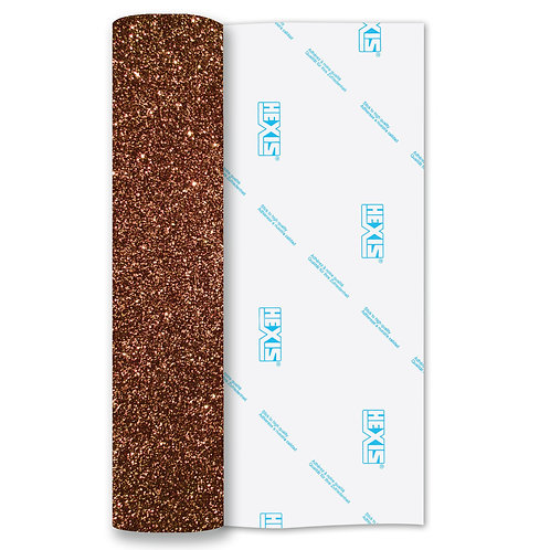 Bronze Glitter Heat Transfer Flex 500mm Wide x 1m Long