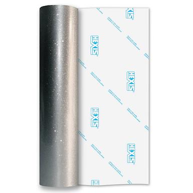 Ultra Glitter Silver Gloss Self Adhesive Vinyl
