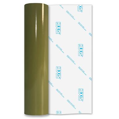 Olive Green Premium Permanent Gloss Self Adhesive Vinyl