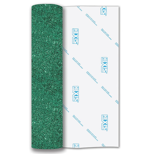 Light Green Glitter Heat Transfer Flex 140mm Wide x 500mm Long