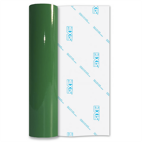 Water Lily Green Economy Permanent Gloss Self Adhesive Vinyl