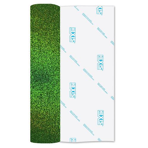 Fluorescent Green Fantasy Holo Glitter 610mm x 1m