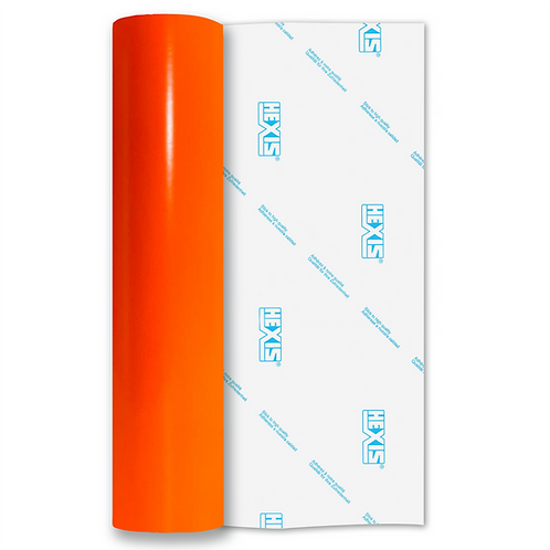 Neon Orange Red Gloss Self Adhesive Vinyl