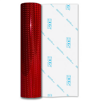 Red Mosaic Gloss Self Adhesive Vinyl