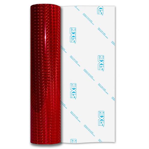 Red Mosaic Gloss Self Adhesive Vinyl
