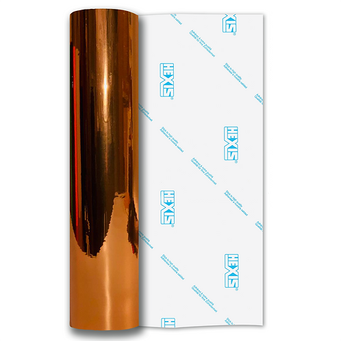 Bright Copper Double Sided Mirror Chrome Self Adhesive Vinyl