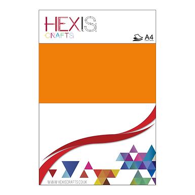 Orange Neon Heat Transfer Flex Sheet